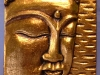 Wooden Buddha Relief with Gold Finish -- bpr-014