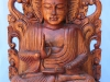 Suar Wood Buddha Statue -- rsp-080