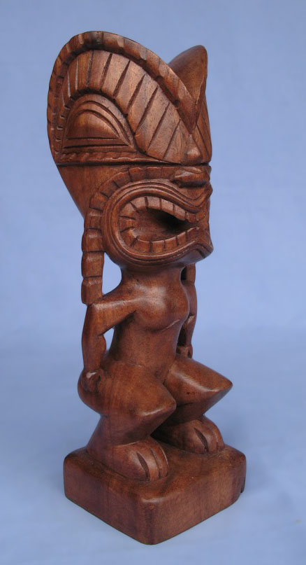 Suar Wood Tiki Statue -- Wholesale Bali Wood Carving: img_2943
