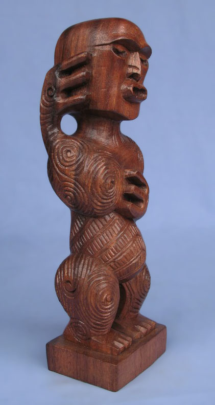 Suar Wood Tiki Statue -- Wholesale Bali Wood Carving: img_2970