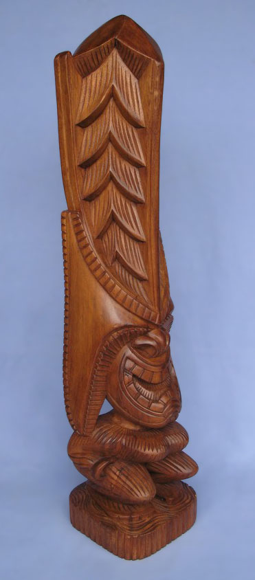 Suar Wood Tiki Statue -- Wholesale Bali Wood Carving: img_2978
