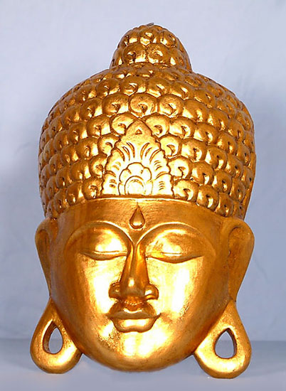 Wooden Buddha Wall Decor -- gbh-06