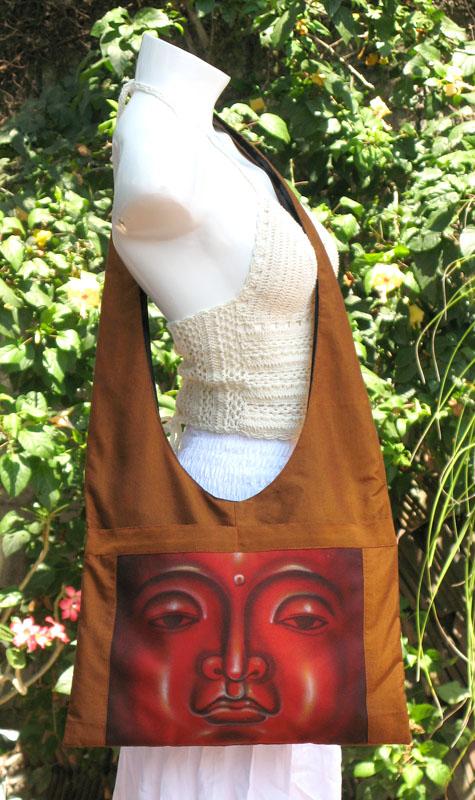 Buddha Face Printed Shoulder Bag -- sbg-4944