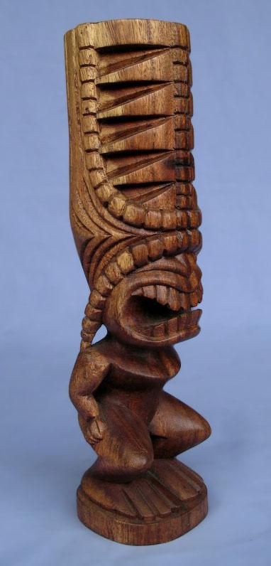 Suar Wood Tiki Statue -- Wholesale Bali Wood Carving: img_2945